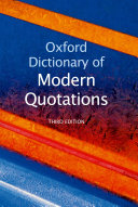 Oxford Dictionary of Modern Quotations