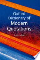 """""""Oxford Dictionary of Modern Quotations"""" by Elizabeth Knowles"""