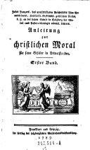 Anleitung zur Christlichen Moral
