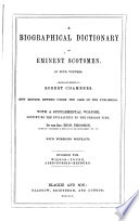 A Biographical Dictionary Of Eminent Scotsmen
