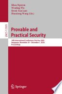Provable And Practical Security