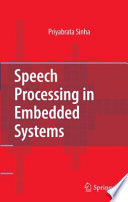Speech Processing In Embedded Systems Book PDF