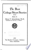 Best College Short Stories, 1917-1918