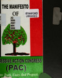 The Manifesto of Progressive Action Congress  PAC