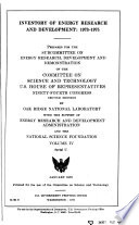 Inventory of Energy Research and Development  1973 1975  Introduction  Energy research and development projects