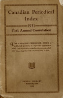 Canadian Periodicals Index