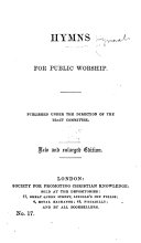 Hymns for public worship     New and enlarged edition  Edited by T  V  Fosbery