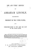 Life and Public Services of Abraham Lincoln