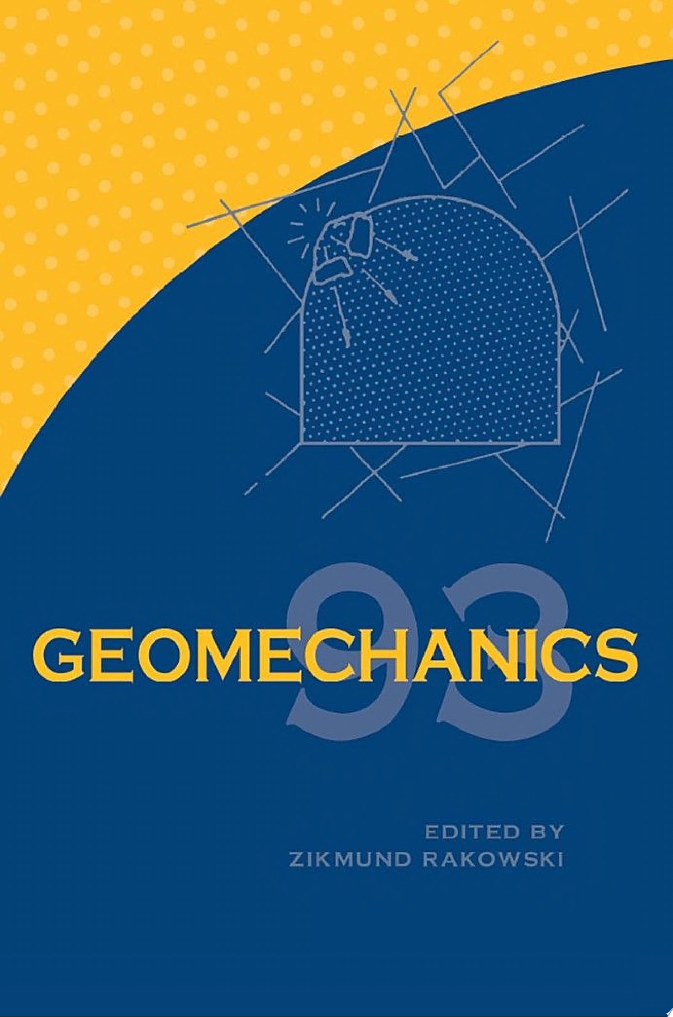 Geomechanics 93   Strata Mechanics  Numerical Methods Water Jet Cutting