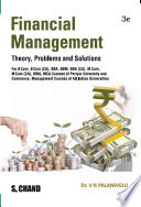 Financial Management Theory Problems Solutions 3e For Periyar University