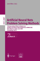 Artificial Neural Nets. Problem Solving Methods: 7th ...