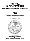 Curricula in the Atmospheric and Oceanographic Sciences Book