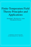 Finite-Temperature Field Theory