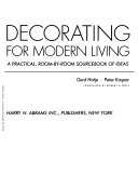 Decorating for modern living