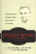 Lincoln Speaks To Leaders PDF