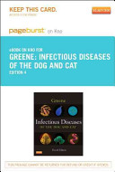 Infectious Diseases of the Dog and Cat   Pageburst E Book on Kno  Retail Access Card
