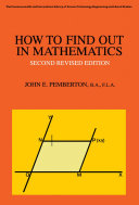 How to Find Out in Mathematics [Pdf/ePub] eBook