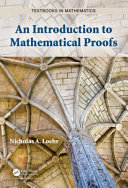 An Introduction to Mathematical Proofs Book