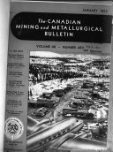 The Canadian Mining and Metallurgical Bulletin