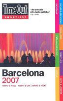 Time Out Shortlist 2007 Barcelona