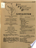 Latin American Population History Newsletter