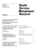 Health Services Management Research