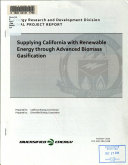 Supplying California with Renewable Energy Through Advanced Biomass Gasification
