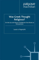 Was Greek Thought Religious?