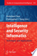 Intelligence and Security Informatics Book