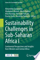Sustainability Challenges in Sub Saharan Africa I