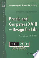People and Computers XVIII   Design for Life Book