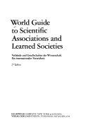 Verbände und Gesellschaften Der Wissenschaft; Ein Internationales Verzeichnis