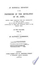 An Historical Exposition Of The Prophecies Of The Revelation Of St John