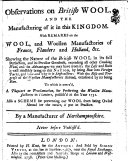 Pdf Observations on British Wool, and the Manufacture of it in this Kingdom