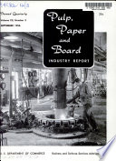 Pulp  Paper and Board Industry Report Book
