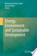 Energy Environment And Sustainable Development Book PDF