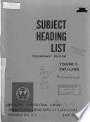 Subject Heading List