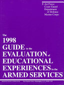 1998 Guide to the Evaluation of Educational Experiences in the Armed Forces