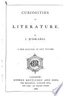 Curiosities of Literature. A new edition, in one volume Pdf/ePub eBook
