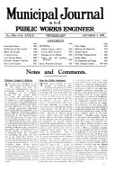 The Municipal Journal and Public Works Engineer