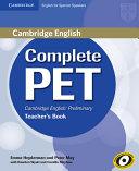 Complete PET for Spanish Speakers Teacher s Book