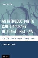 An Introduction to Contemporary International Law Pdf/ePub eBook