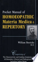 Pocket Manual Of Homoeopathic Materia Medica Repertory