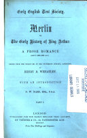 Merlin; Or, The Early History of King Arthur