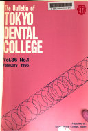 The Bulletin of Tokyo Dental College