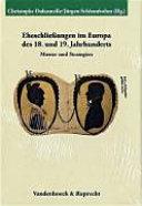 Pdf Eheschliessungen Im Europa Des 18. und 19. Jahrhunderts