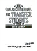 The College Handbook for Transfer Students  1996