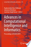 Advances in Computational Intelligence and Informatics