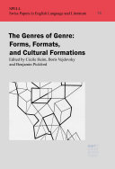 The Genres of Genre  Form  Formats  and Cultural Formations