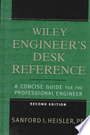 The Wiley Engineer S Desk Reference Book PDF